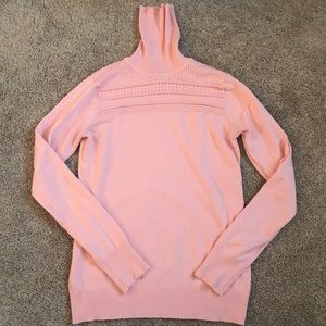 the limited Pink turtleneck sweater